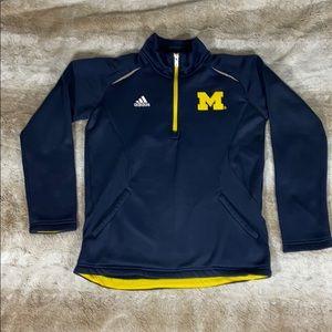 Adidas University of Michigan 1/4 zip up